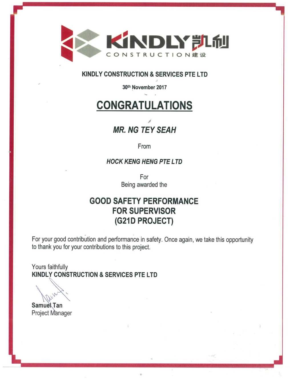 Good Safety Performance for Gondola Cert