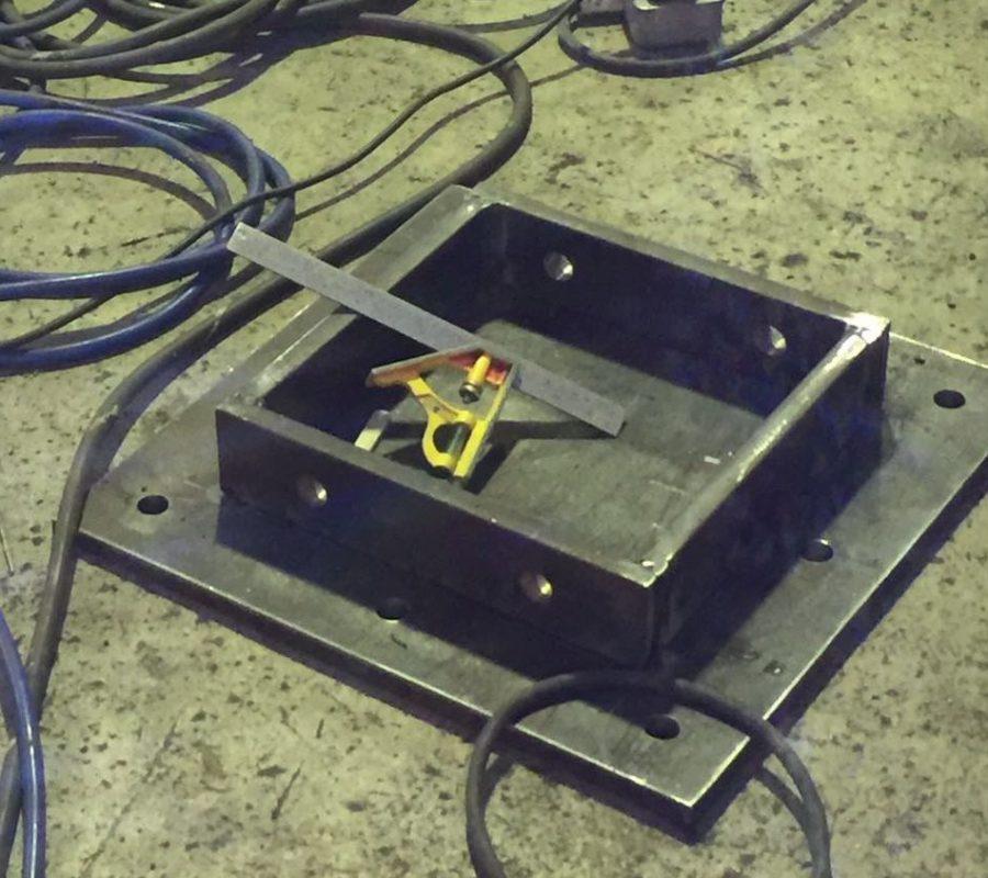 Permanent Gondola System Slab Mounted Bracket Fabrication